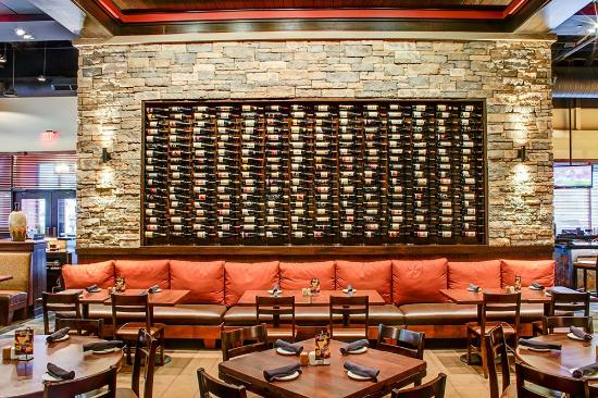Captivating Firebirds Wood Fired Grill: Dining Room U0026 Wine Wall