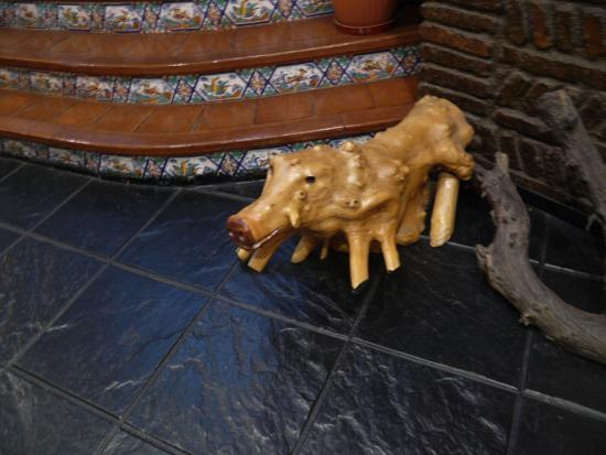 Fuencaliente, İspanya: El interior del restaurante/hotel