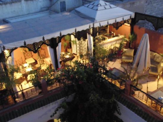 Riad d'Airain Marrakech: Le soir
