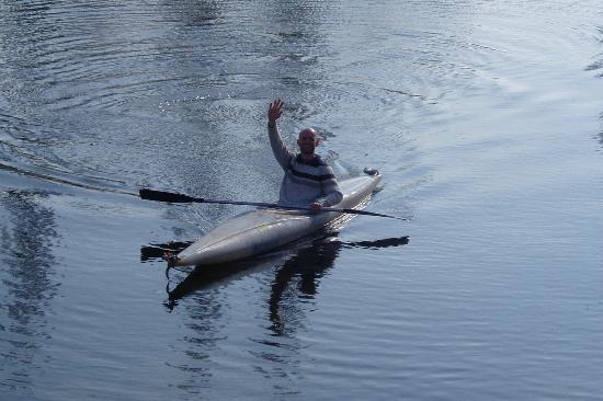 Mussidan, Γαλλία: Boating on lake