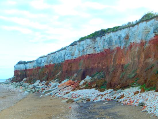 Norfolk, UK: Red and white cliffs