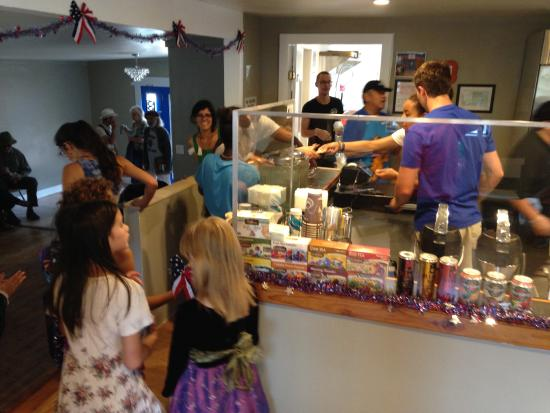 Inside Crestone Creamery - 4th of July 2015