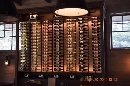 Medlock Ames Tasting Room: Wine Wall