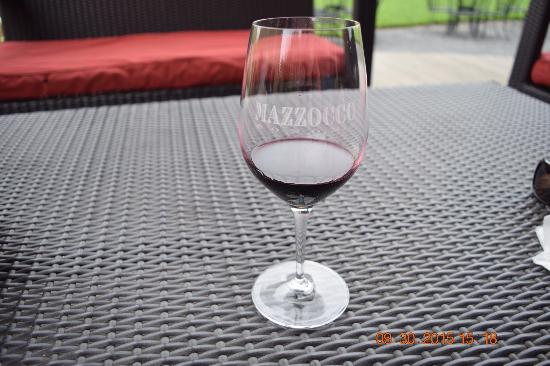Mazzocco Sonoma: A glass needing more wine!