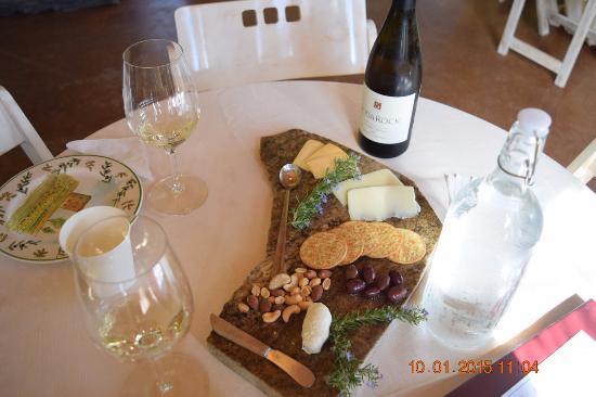 Soda Rock Winery: Beautiful presentation at a private tasting