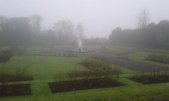 Kilkenny Castle grounds in the Fog