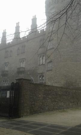 Kilkenny Castle in the fog