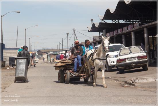Guguletu, Sudáfrica: Street View in Town Ship