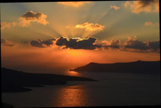 Archipelagos Restaurant: Sunset view