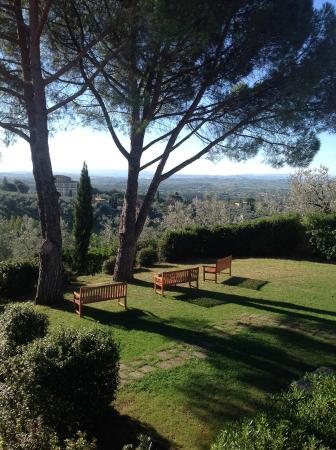Agriturismo Borgo Casorelle: Terrasse sur vue