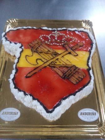 Cafeteria-Pasteleria Anduriña: TARTA ESPAÑA