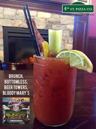 4th Street Pizza Company: Bottomless Bloody Marys every Sunday for Sunday Funday Football