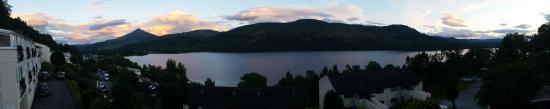 Kinloch Rannoch, UK: View from the balcony of Otter 5 Lodge at the Loch Rannoch Highland Club