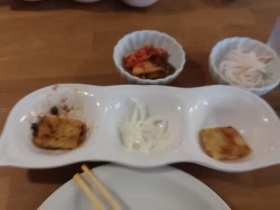 Sura Korean Cuisine: 5 Sides that comes with shabu shabu.