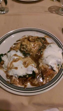Uncle Joe's Pizza & Restaurant: chicken cutlet with spinach