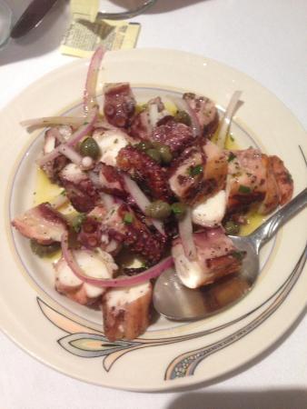 The Black Olive: Octopus salad