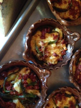 Cooking Classes with Paco Cardenas: We baked  chiles wth chorizo and cheese