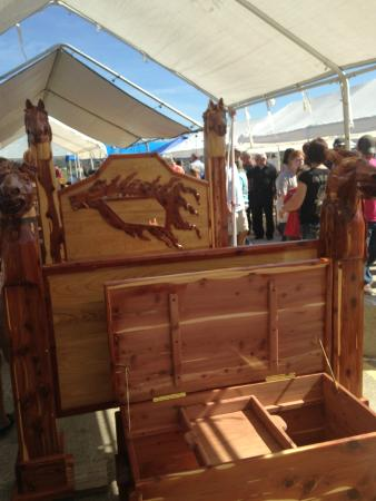 Awesome hand crafted bed picture of angola rodeo angola for Craft shows in louisiana