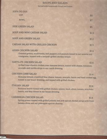 Ukiah, CA: Lunch menu