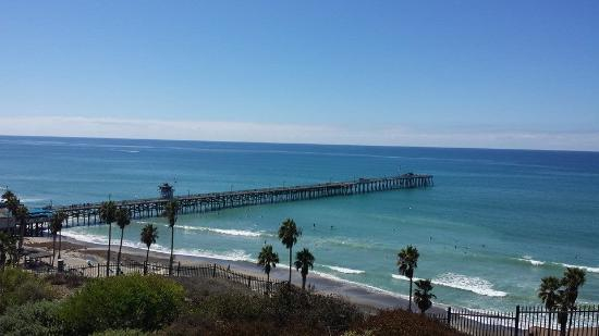 The view of the San Clemente pier from the back of the house.