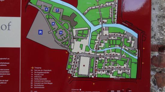 map of Groot Begijnhof Picture of Groot Begijnhof Leuven