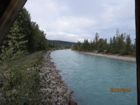 Golden, Canada: Kicking Horse River before running into the Columbia