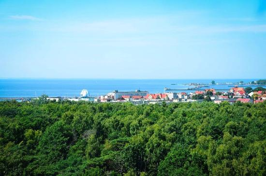 The view from the lighthouse of Hel