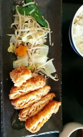 c648a644321749 Restaurant IIDA-YA  Menu du midi, saumon pané et petite mise en bouche