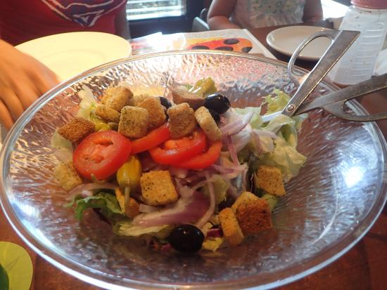 Olive Garden: Love the endless salad bowl.