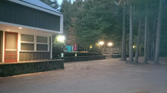 Papoose Pond Family Campground & Cabins : Main entrance,  office, arcade and store area