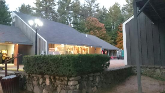 Waterford, ME: Main entrance,  office, arcade and store area