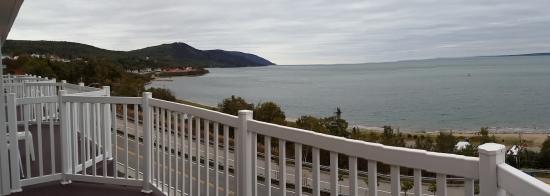 Saint-Simeon, Kanada: Aperçu du balcon aménagé de la chambre 26