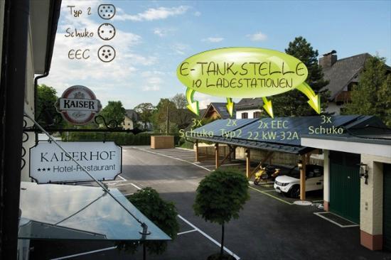 Hotel Restaurant Kaiserhof : Ladestation für EV`s