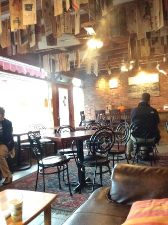 Red Cup Coffee House: End of season makes this place quiet and comfy. Some bakery selections become limited.