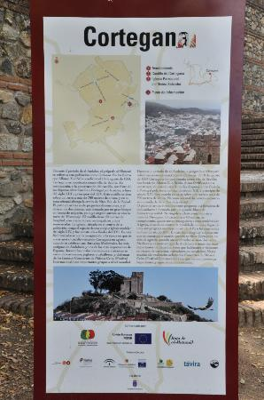 Cortegana, Spain: Tablet with history.