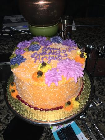 Birthday cake from Whole Foods bakery - Picture of Whole Foods ...