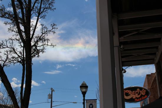Weatherford Hotel: My first SunDog, looking south on Leroux