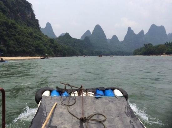 Wada Hostel: The Li River nearby to the hostel