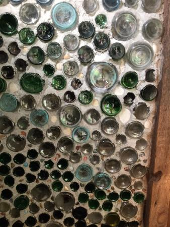 Sandia Park, NM: Bottle wall
