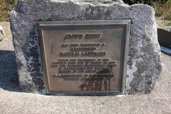 Hood River, Oregón: Crown Point sign