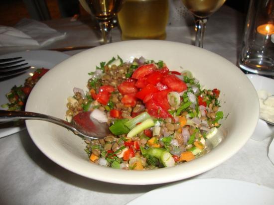 Piso Livadi, Griechenland: Lentil Salad