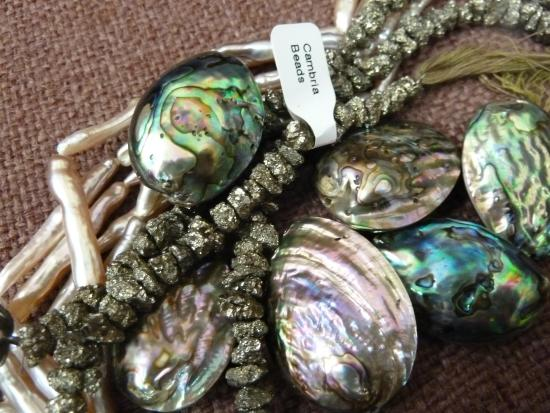 Cambria Beads: pearls, shell, and semiprecious stone beads
