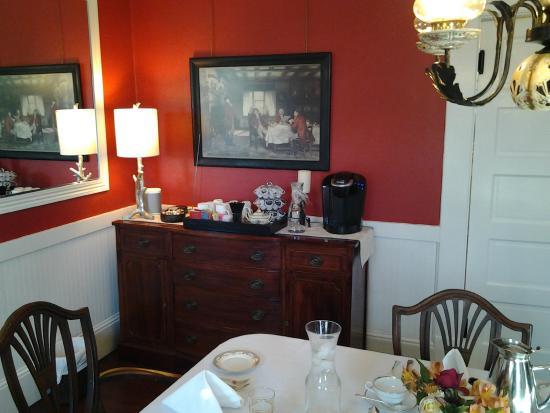 C. H. Bailey House: Dining room buffet table.