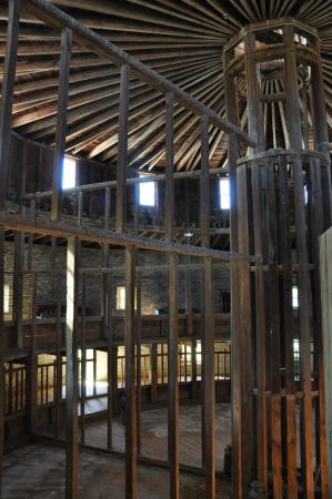 Pittsfield, MA: interior structure of the barn