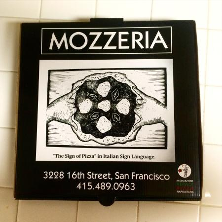 Mozzeria Pizza Box