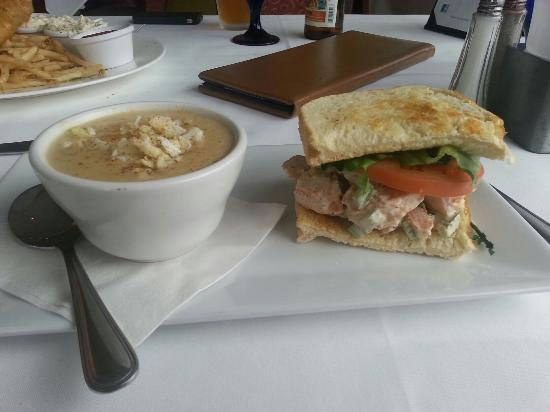 Sam's on the Waterfront: Soup and Sandwich
