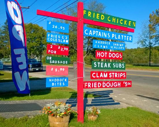 Berlin, NH: River's Edge Menu Board
