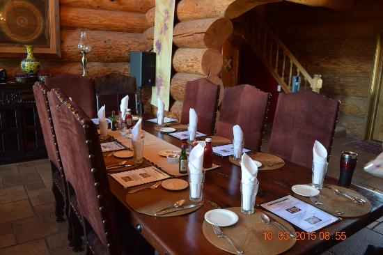 Fitzpatrick Winery and Lodge : Dining room