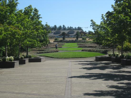 Hotel as seen from the gardens. - Picture of Oregon Garden Resort ...