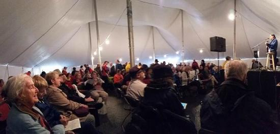 International Storytelling Center: There are 5 large tents around town to choose from.